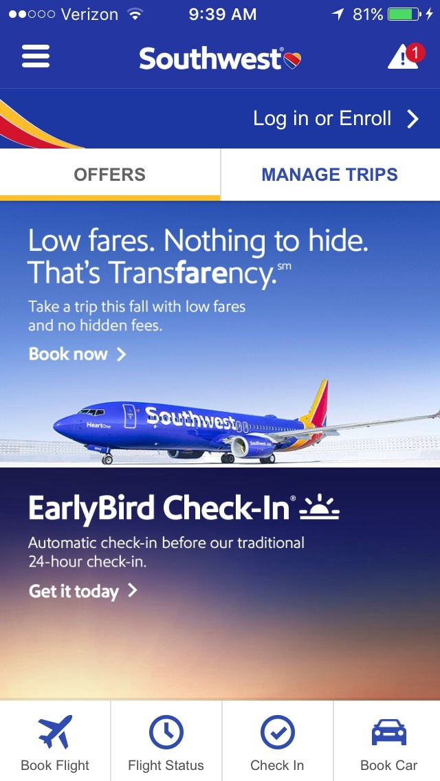 Southwest Mobile Apps - Airline Mobile Apps