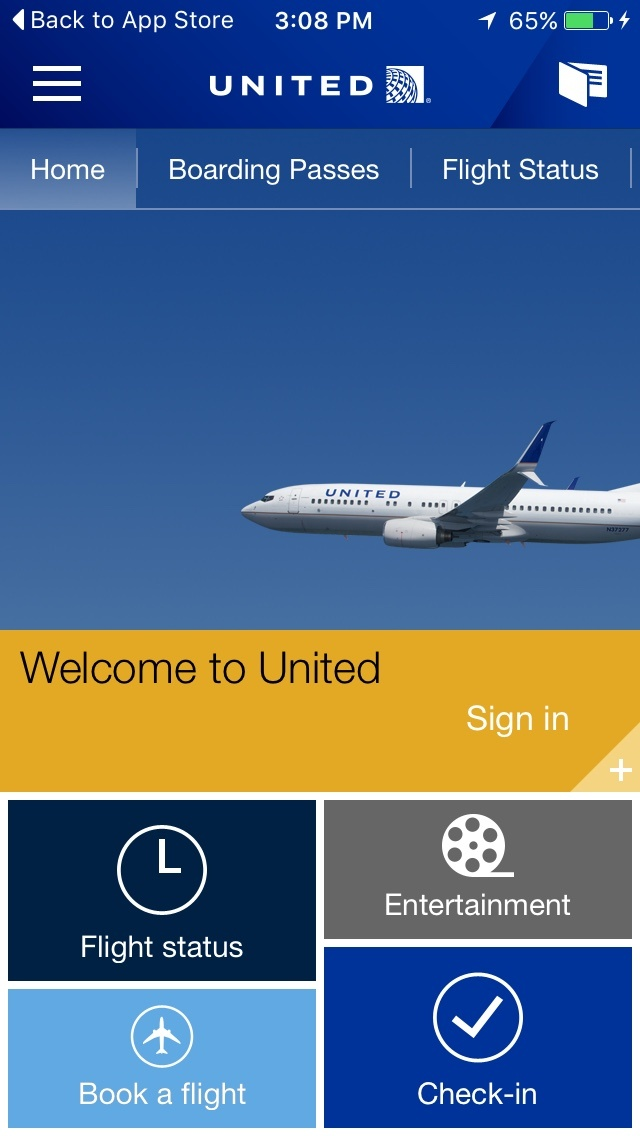 United Airlines Mobile Apps - UPDATED August 2019