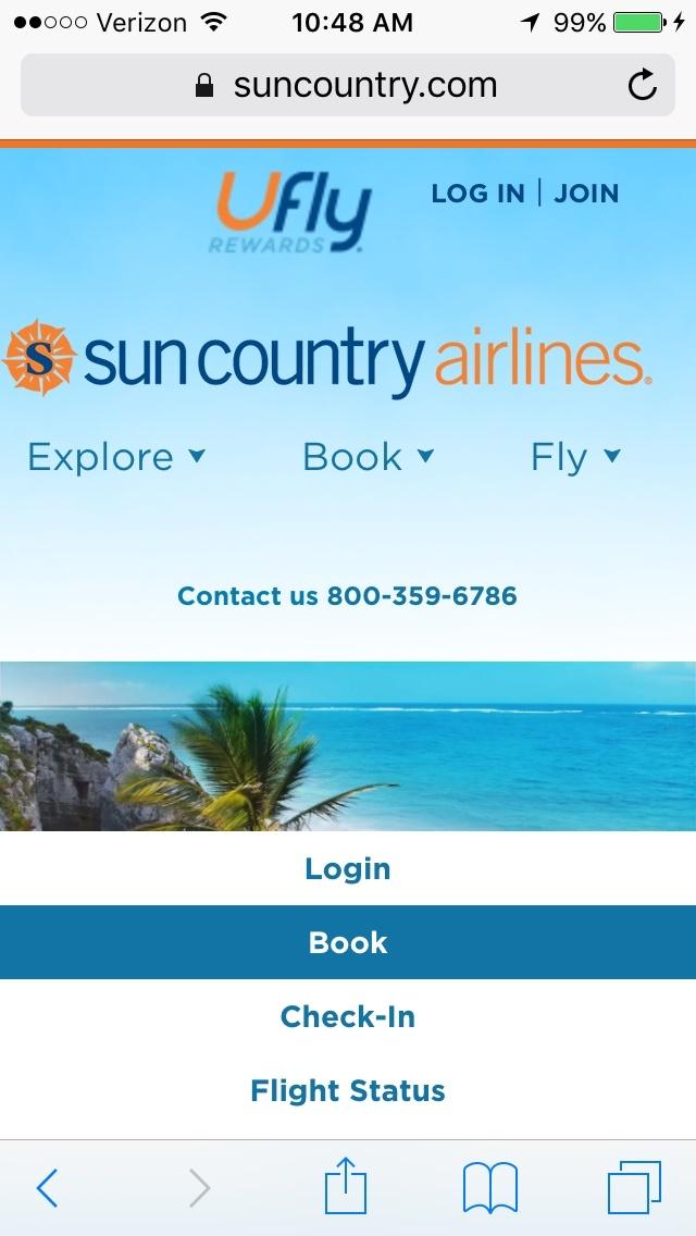 Sun Country Airlines Flight (Fleet Info)